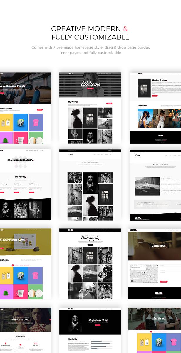 Cimol - Responsive One Page & Multi Page Portfolio Layout - 1