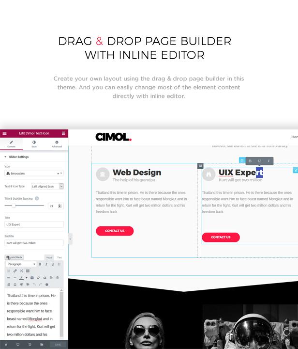 Cimol - Responsive One Page und Multi Page Portfolio Layout - 3