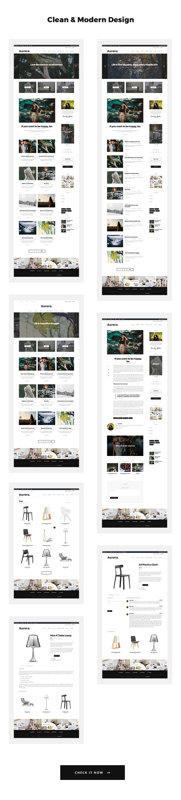 Aurora - Lifestyle Blog und Shop WordPress Template - 2