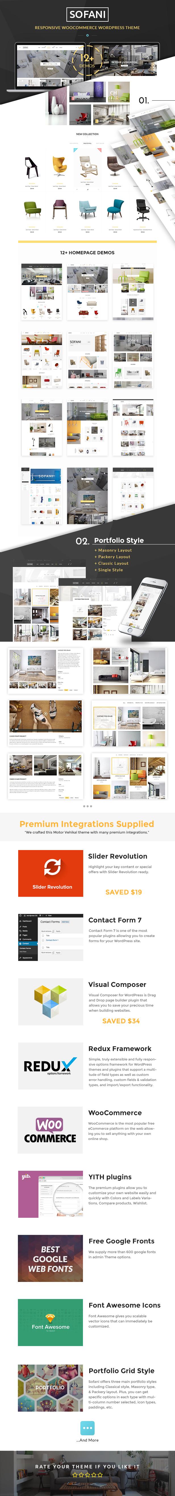 Sofani - Möbelgeschäft WooCommerce WordPress Vorlage