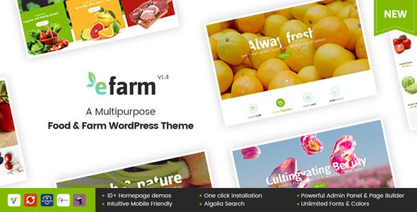 Wordpress Shop Template eFarm - A Multipurpose Food & Farm WordPress Theme