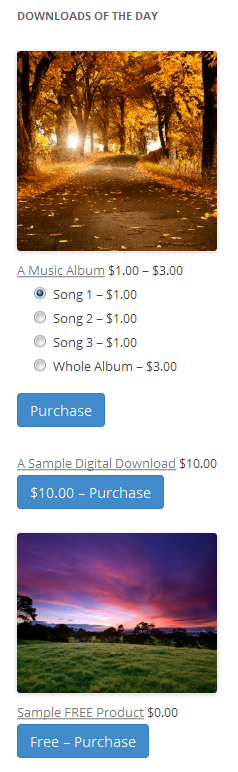 Download des Tages-Widgets