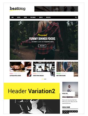 BestBlog - Responsive WordPress Blog Vorlage - 5