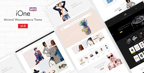 Wordpress Shop Template iOne - Minimal Responsive WooCommerce Theme