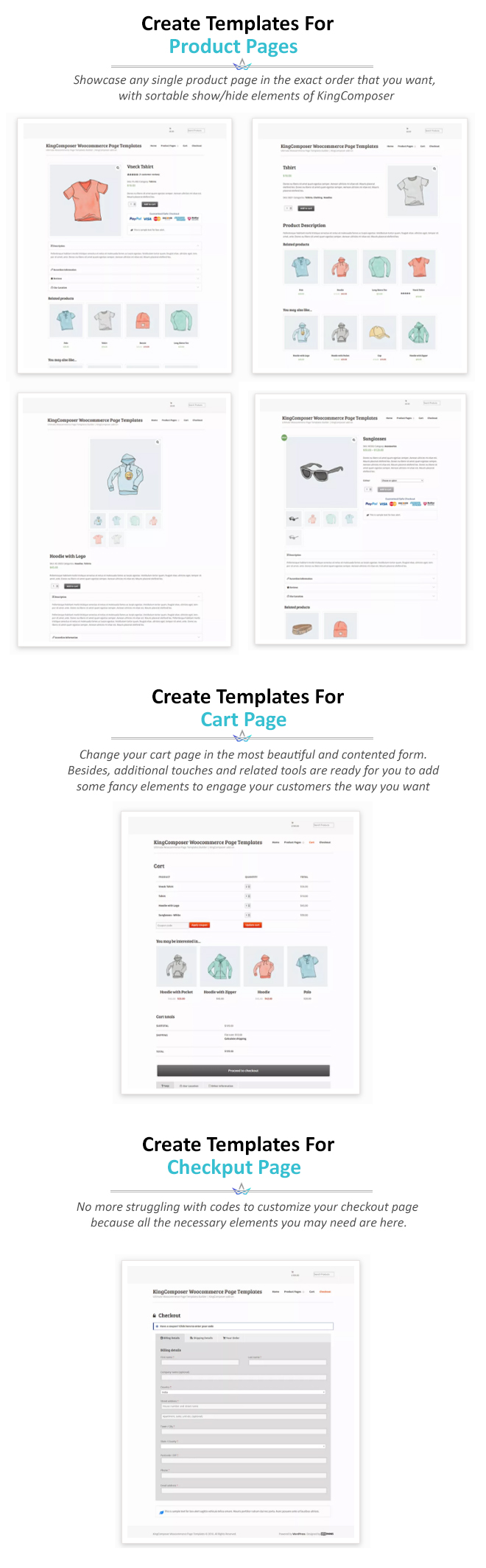 Ultimate Woocommerce Page Templates Builder | KingComposer-Add-On - 1
