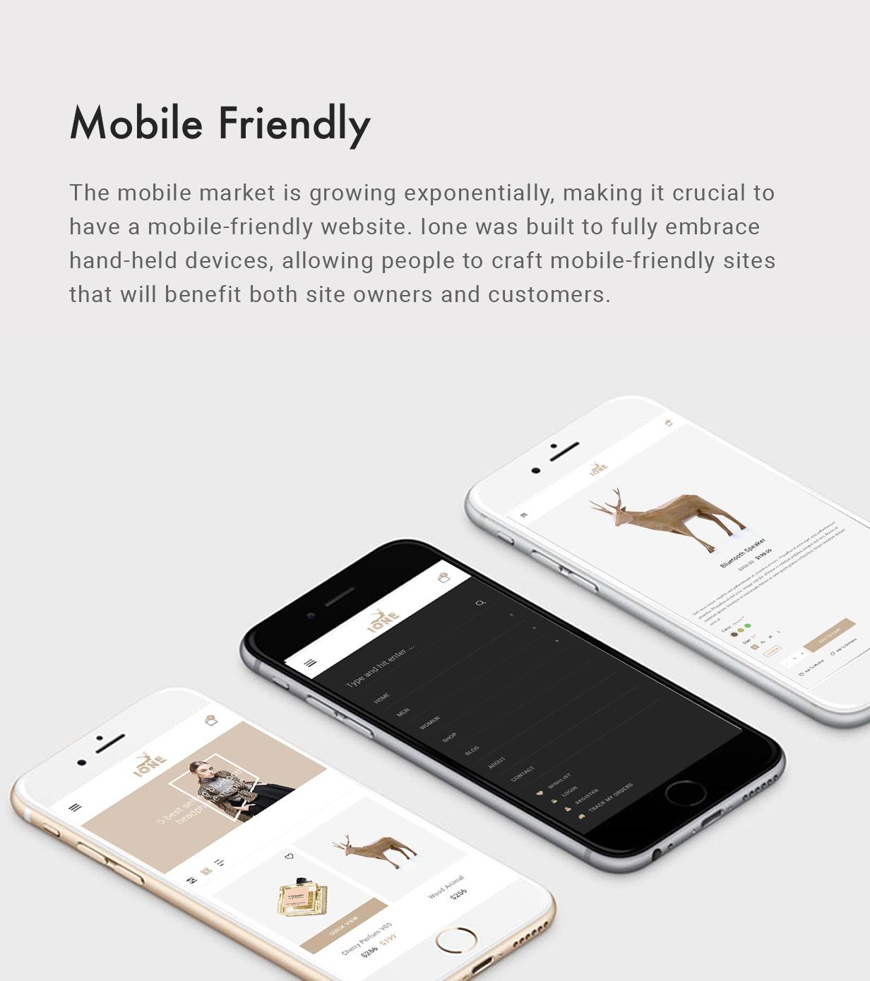 iOne - Minimal Responsive WooCommerce Vorlage - 6