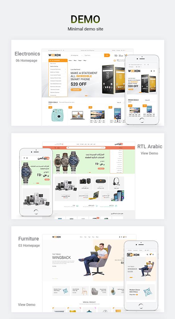 Wooxon - WooCommerce WordPress Template - 1