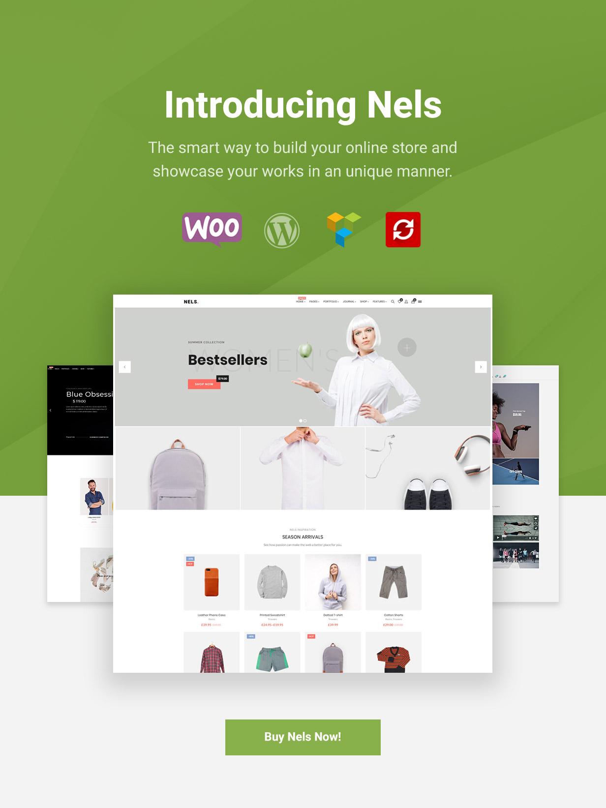 Nels - Ein exquisites eCommerce WordPress Template - 1