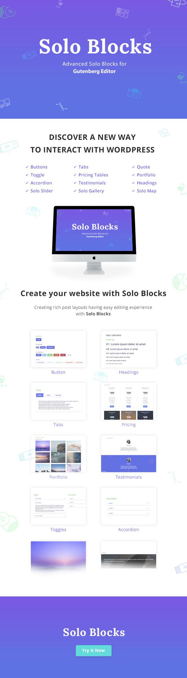 SoloBlocks - Blöcke für WordPress Gutenberg Editor - 2