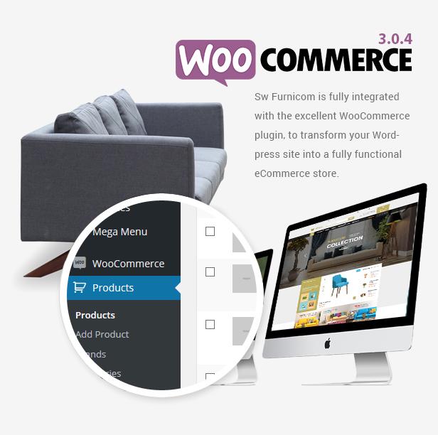 Reaktionsschnelle Möbel WooCommerce WordPress Template - Woocommerce