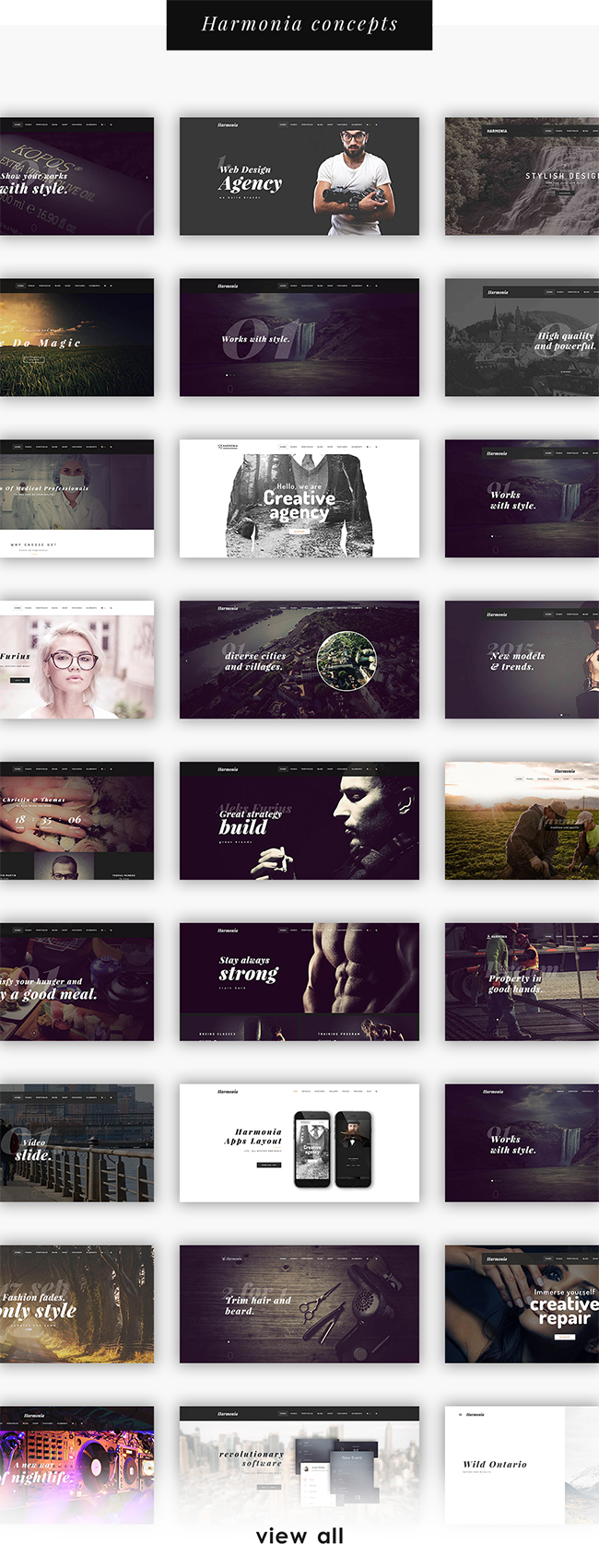 Harmonia - Kreatives Mehrzweck-WordPress-Template