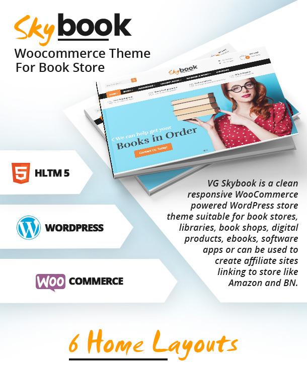VG Skybook - WooCommerce Template für Buchhandlung - 10