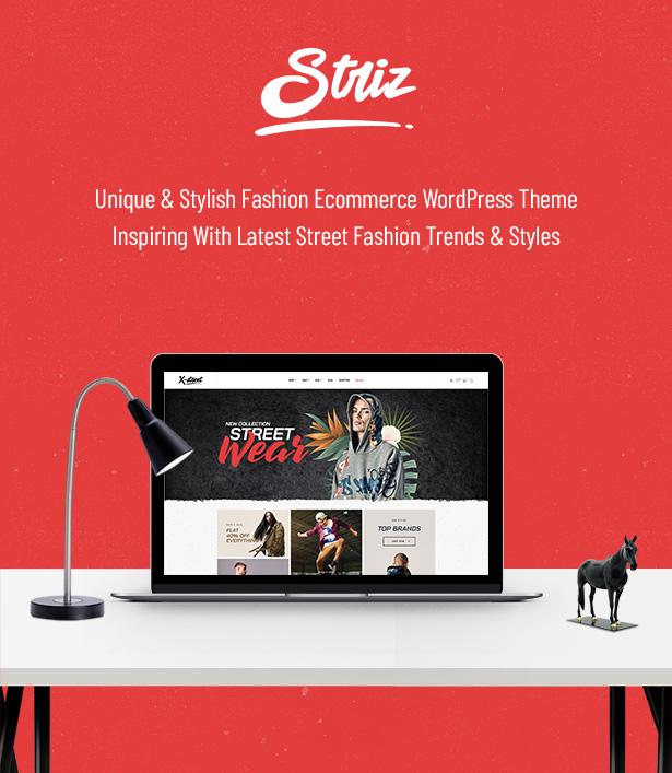 Striz Einzigartiges & stylisches Fashion Ecommerce WordPress Vorlage
