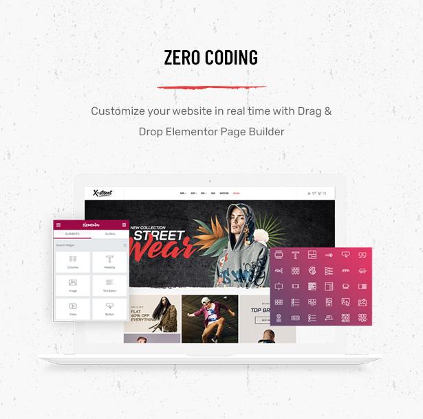 Striz Fashion E-Commerce-WordPress-Vorlage Mit Elementor Page Builder erstellt