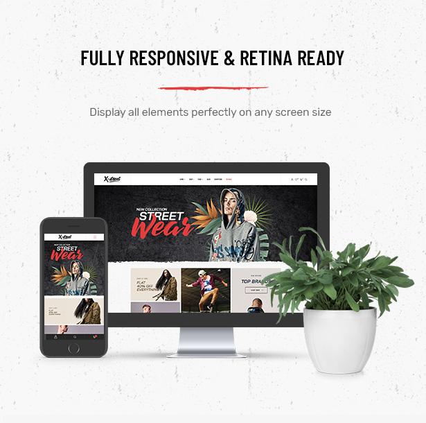 Vollständig responsives Striz Fashion Ecommerce WordPress Vorlage