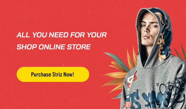 Striz Bestes Fashion Ecommerce WordPress Vorlage
