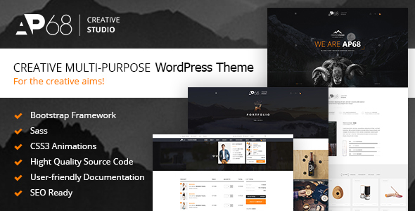 Wordpress Kreativ Template AP68 - Creative Multi-Purpose WordPress Theme