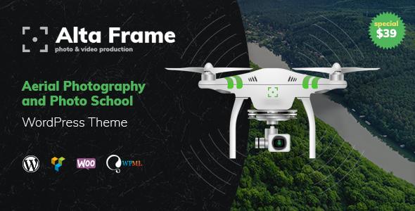 Wordpress Kreativ Template Altaframe - Drone Aerial Photography, Photo School and Photographer Portfolio WordPress Theme