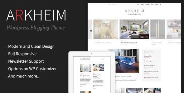 Wordpress Blog Template Arkheim - WordPress Blog Theme