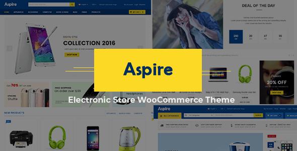 Wordpress Shop Template Aspire - Multipurpose Responsive WooCommerce WordPress Theme