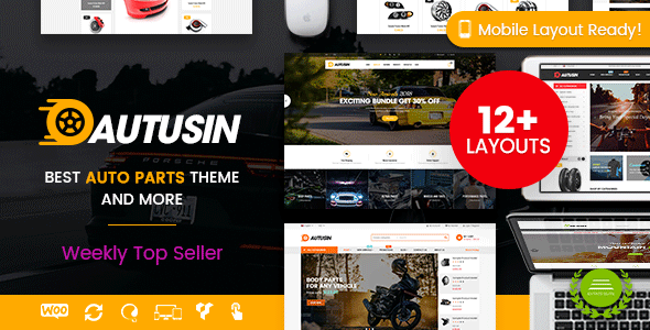 Wordpress Shop Template Autusin - Auto Parts & Car Accessories Shop WordPress WooCommerce Theme (12+ Homepages Ready)
