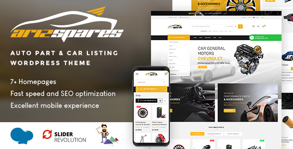 Wordpress Shop Template Azirspares - Auto Part & Car Listing WordPress Theme (RTL supported)