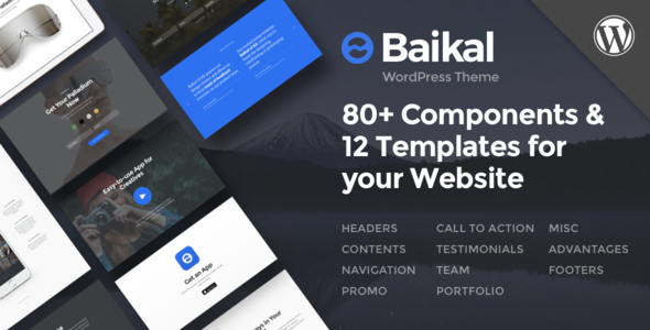 Wordpress Kreativ Template Baikal - Responsive Multi-Purpose WordPress Theme
