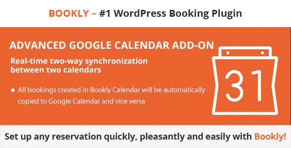 Wordpress Add-On Plugin Bookly Advanced Google Calendar (Add-on)