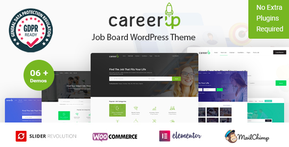 Wordpress Directory Template CareerUp - Job Board WordPress Theme