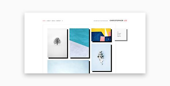 Wordpress Kreativ Template Christopher - Portfolio & Photography WordPress Theme