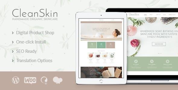 Wordpress Shop Template CleanSkin | Handmade Organic Soap & Natural Cosmetics Shop WordPress Theme