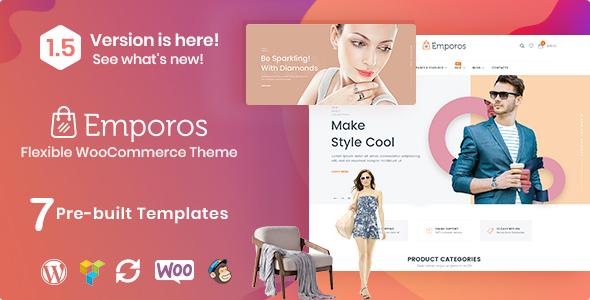 Wordpress Shop Template Emporos - Responsive WooCommerce Theme
