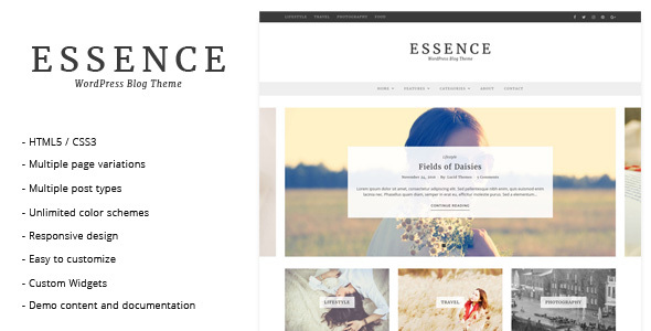 Wordpress Blog Template Essence - WordPress Blog Theme