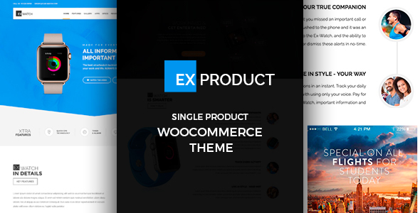 Wordpress Shop Template ExProduct - Single Product theme