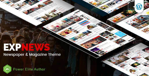 Wordpress Blog Template ExpNews - Newspaper and Magazine WordPress Theme