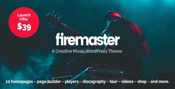 Wordpress Entertainment Template Firemaster - A Creative Music WordPress Theme