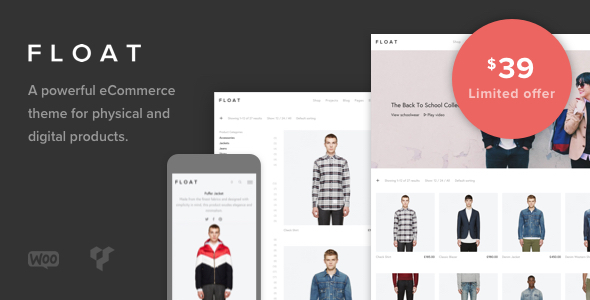 Wordpress Shop Template Float - Minimalist eCommerce Theme