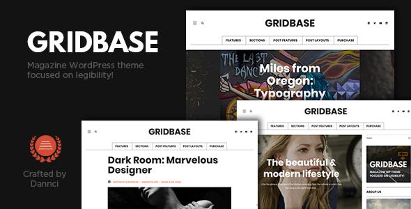 Wordpress Blog Template Gridbase - A News and Blog WordPress Theme