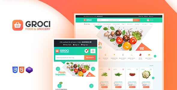 Wordpress Shop Template Groci - Organic Food and Grocery Market WordPress Theme