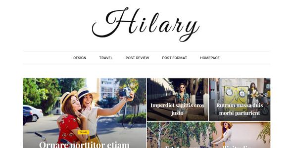 Wordpress Blog Template Hilary - Fast - Clean - Flexible WordPress Magazine News Blog Theme