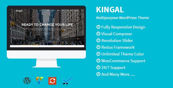 Wordpress Kreativ Template Kingal - MultiPurpose WordPress Theme