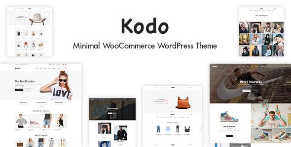 Wordpress Shop Template Kodo - Minimal Responsive WooCommerce Theme
