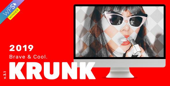 Wordpress Blog Template Krunk - Brave & Cool WordPress Blog Theme