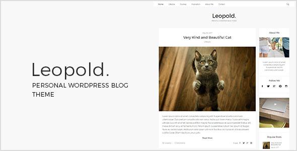 Wordpress Blog Template Leopold - Personal WordPress Blog Theme