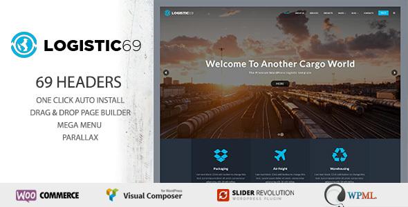 Wordpress Corporate Template Logistic69 - Logistics & Transportation WP Theme