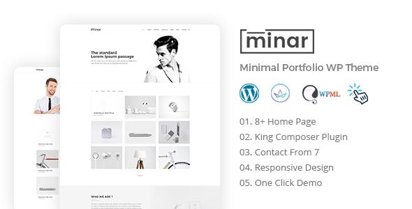 Wordpress Kreativ Template Minar - Minimal Portfolio WordPress Theme
