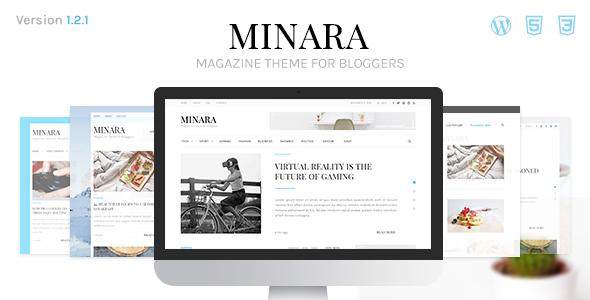 Wordpress Blog Template Minara - WordPress Magazine Theme for Bloggers