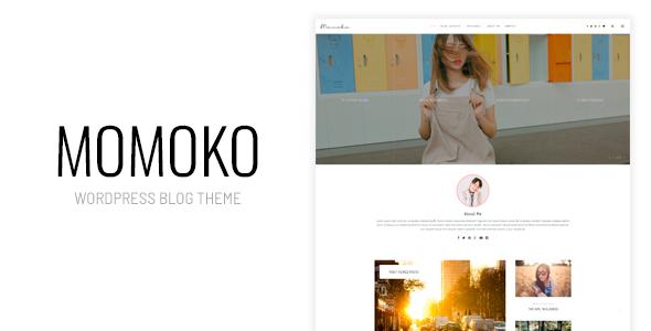 Wordpress Blog Template Momoko - Personal WordPress Blog Theme