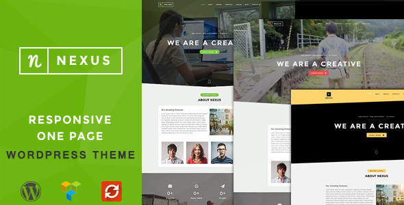 Wordpress Corporate Template Nexus - Onepage Multipurpose WordPress Theme
