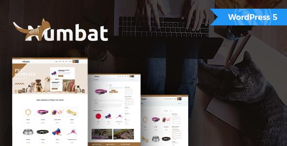 Wordpress Shop Template Numbat - Pet Shop WooCommerce WordPress Theme